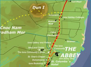 Iona map of the Abbey