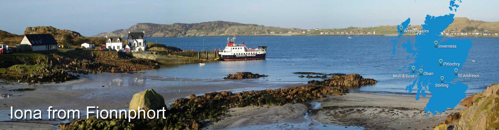 The Iona ferry getting to Iona