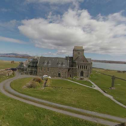 Iona Abbey from the mound