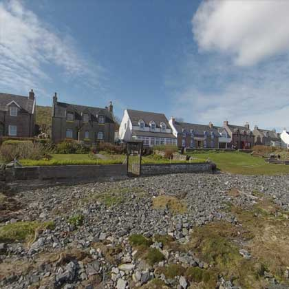 Iona Village in front of the Argyll Hotel
